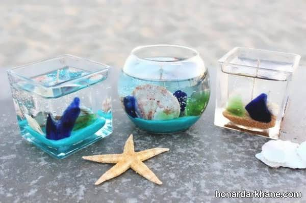 مدل های متنوع شمع آرایی با صدف