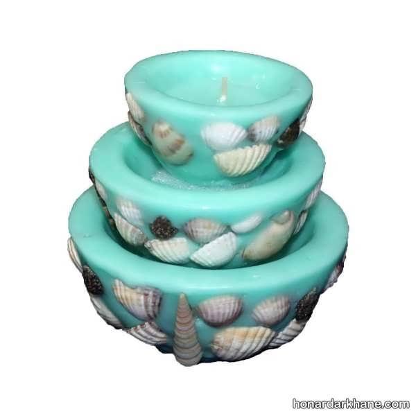 مدل های جذاب تزیین شمع با صدف