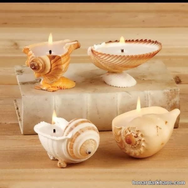 انواع بسیار زیبا شمع آرایی با مروارید