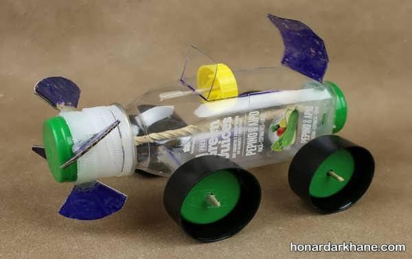 درست کردن ماشین با کاغذ و مقوا