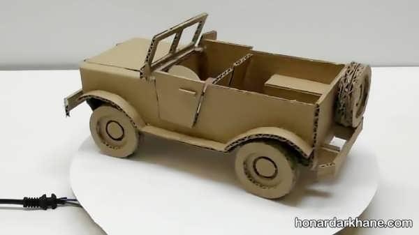 نحوه ساختن کاردستی به شکل اتومبیل