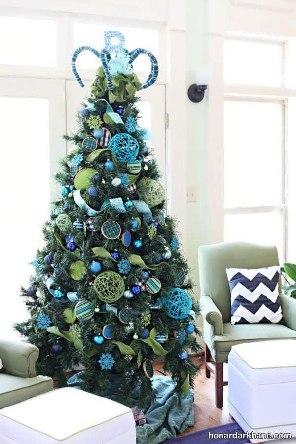 انواع آراستن درخت کریسمس با روش های مختلف