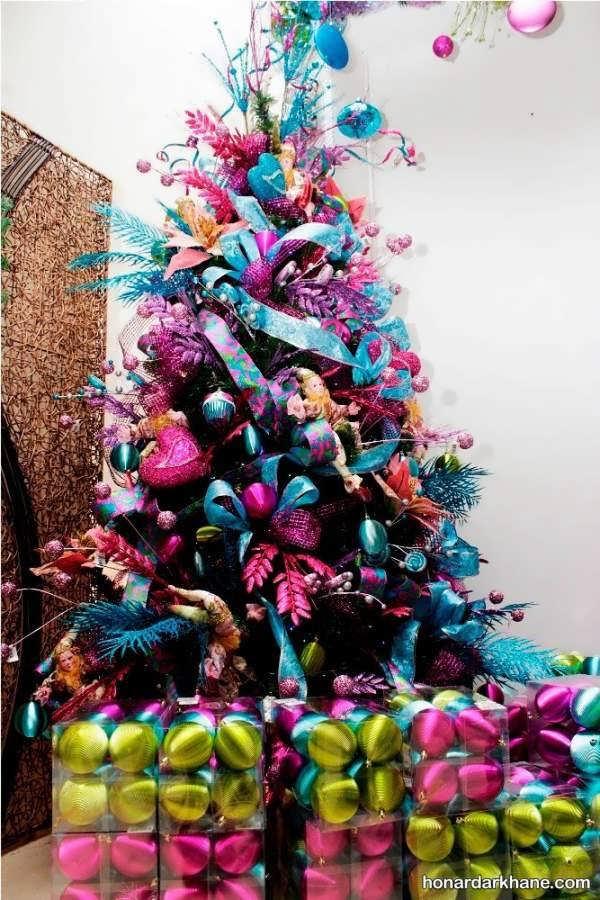 انواع تزیین درخت کاج با ایده های جالب
