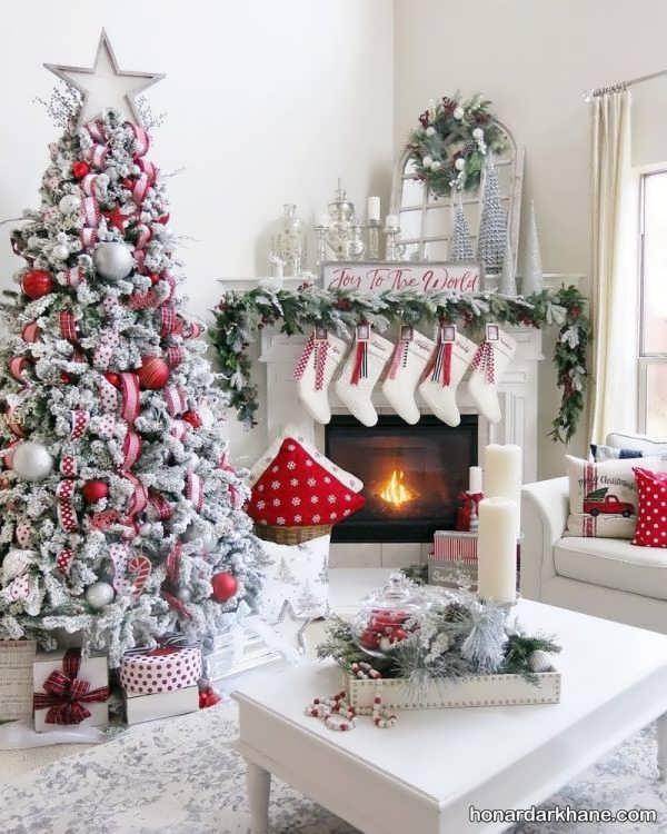 انواع تزیین جذاب درخت کاج برای جشن سال نو میلادی