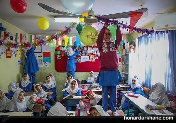 انواع آذین بندی مدرسه برای دهه فجر