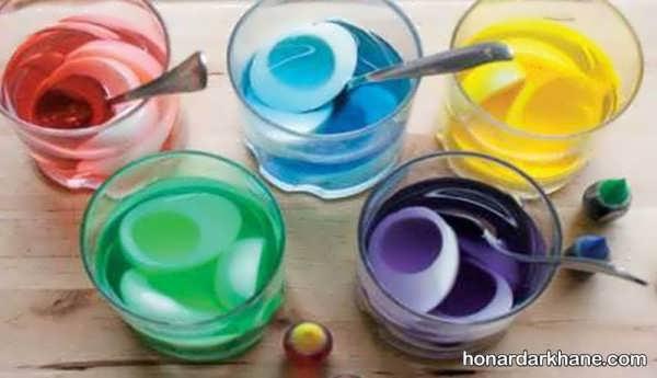 مدل های زیبا دیزاین برنج با رنگ های خوراکی