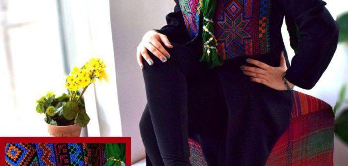 آموزش پته دوزی کرمانی روی لباس