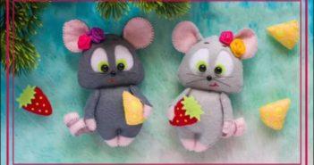 آموزش ساخت عروسک موش نمدی