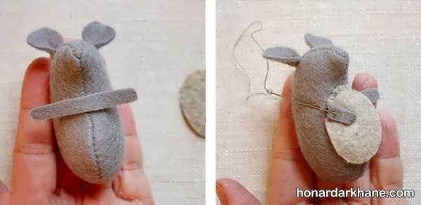 نحوه درست کردن موش نمدی جالب
