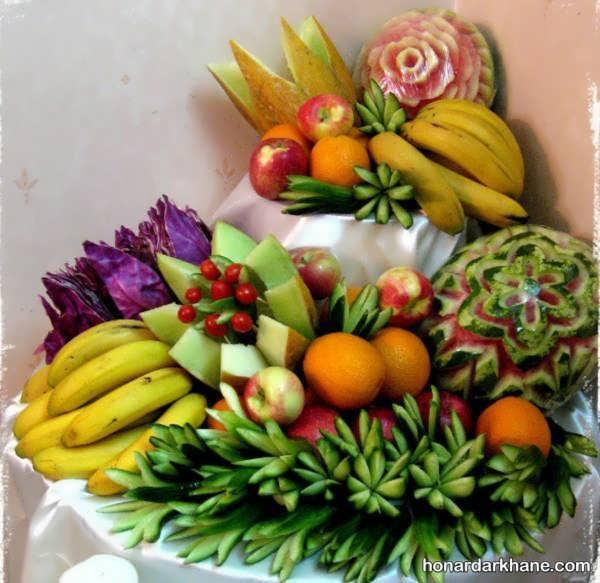 مدل های جالب میوه آرایی برای شب یلدا
