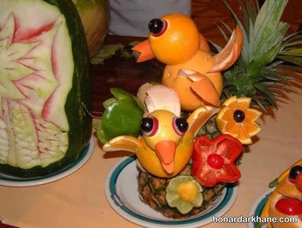 مدل های شیک و خاص تزیین میوه برای شب چله