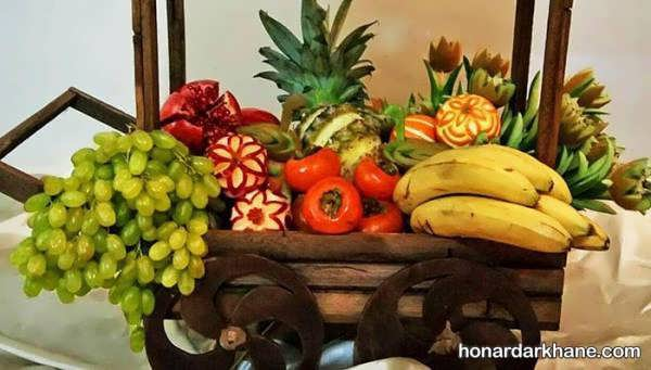 مدل های شیک و زیبا تزیین میوه برای شب چله