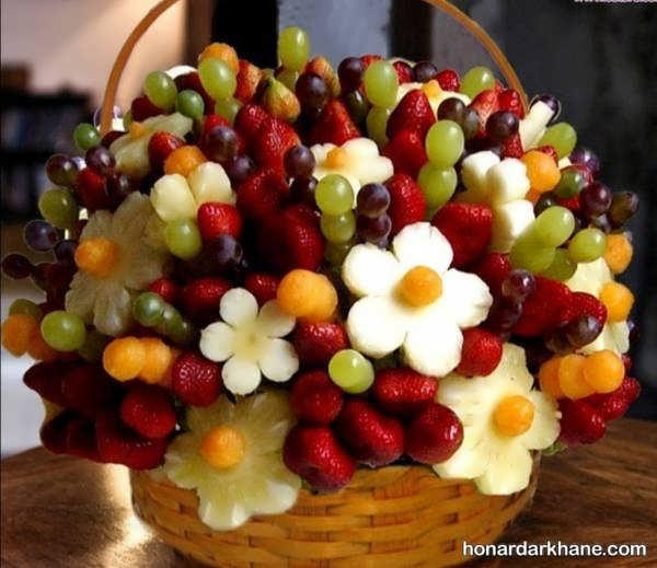 مدل های جذاب تزیین میوه برای شب یلدا