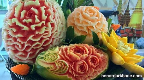 مدل های زیبا و جدید دیزاین میوه برای شب یلدا