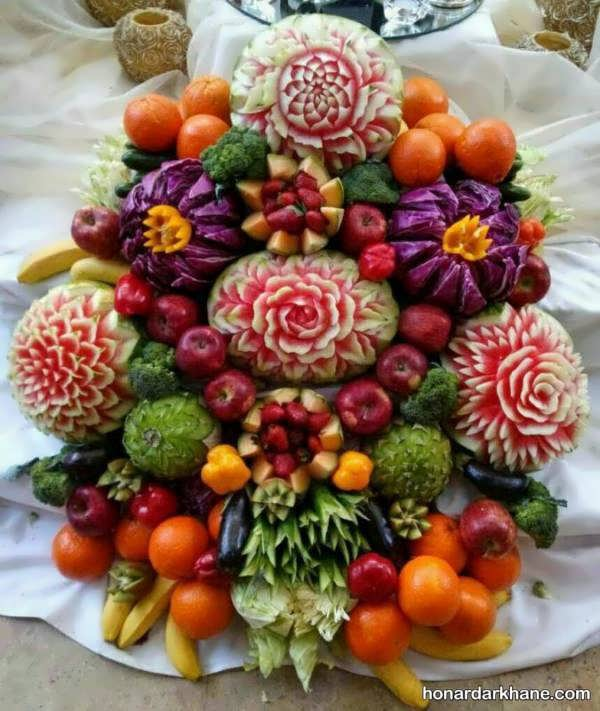 انواع بسیار زیبا میوه آرایی
