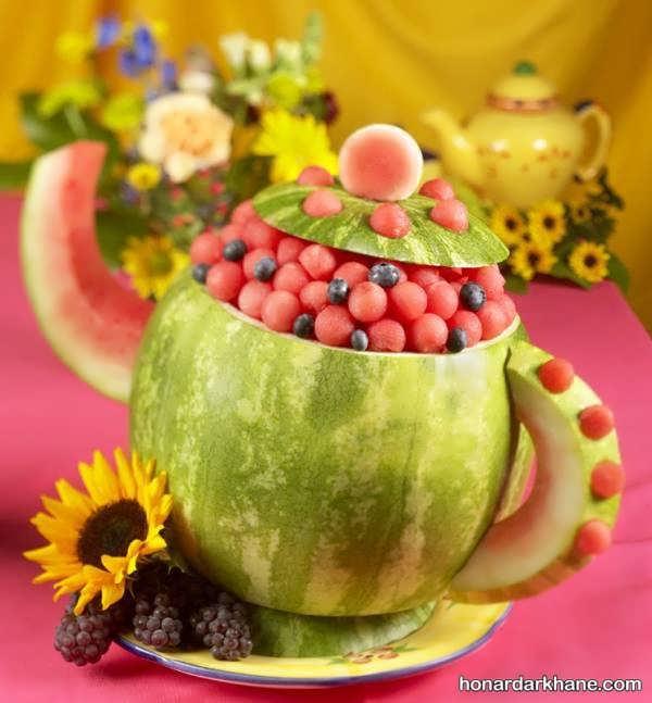 مدل های جدید تزیین میوه برای شب یلدا