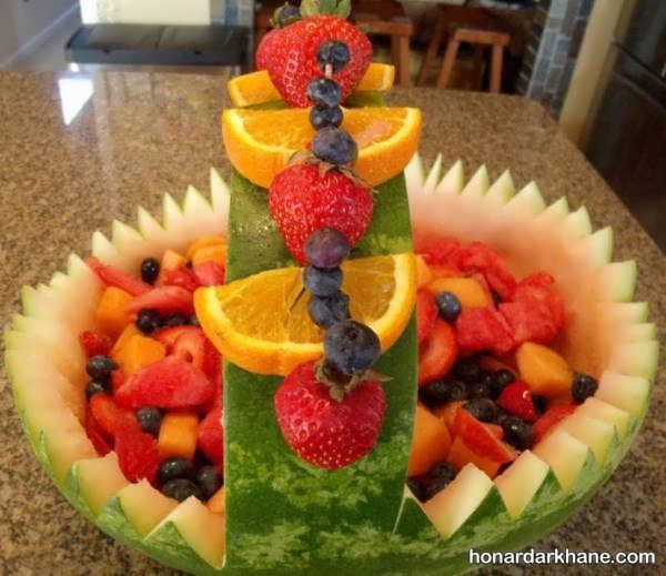 انواع جذاب و خاص تزیین میوه برای شب چله