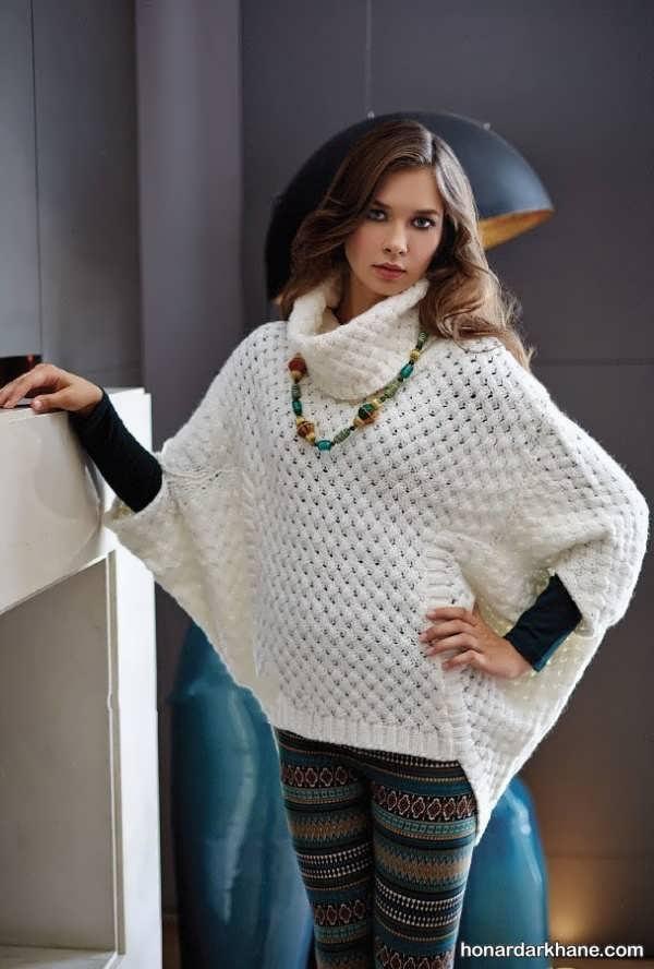 انواع ساده و جدید لباس بافت دخترانه