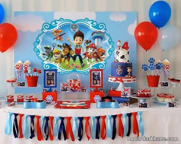 برگزاری جشن تولد با زمینه انیمیشن پاوپاترول