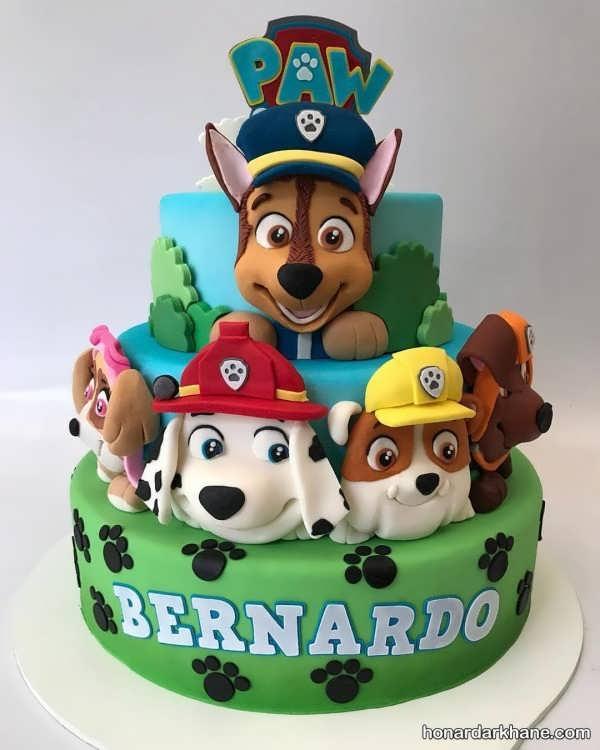 تزیینات تولد با زمینه سگ های نگهبان