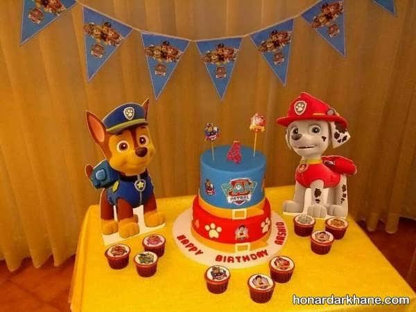 مراسم تولد با زمینه انیمیشن سگ های نگهبان