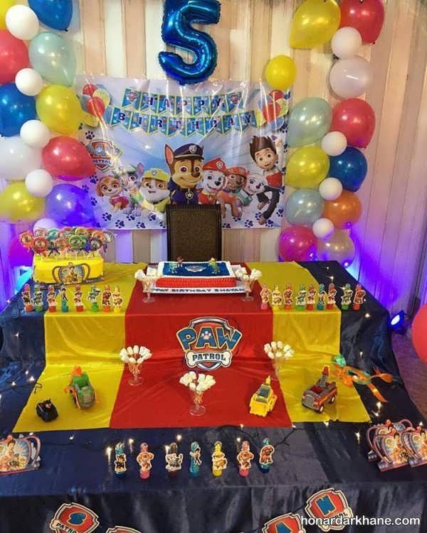 مراسم تولد بی نظیر با تم رویایی پاو پاترول