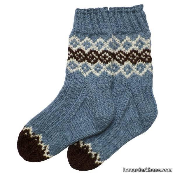 انواع زیبا و جدید جوراب بافتنی زنانه