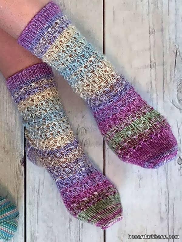 مدل های شیک و زیبا جوراب زمستانه
