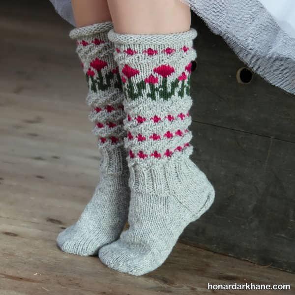 انواع شیک و زیبا جوراب بافتنی