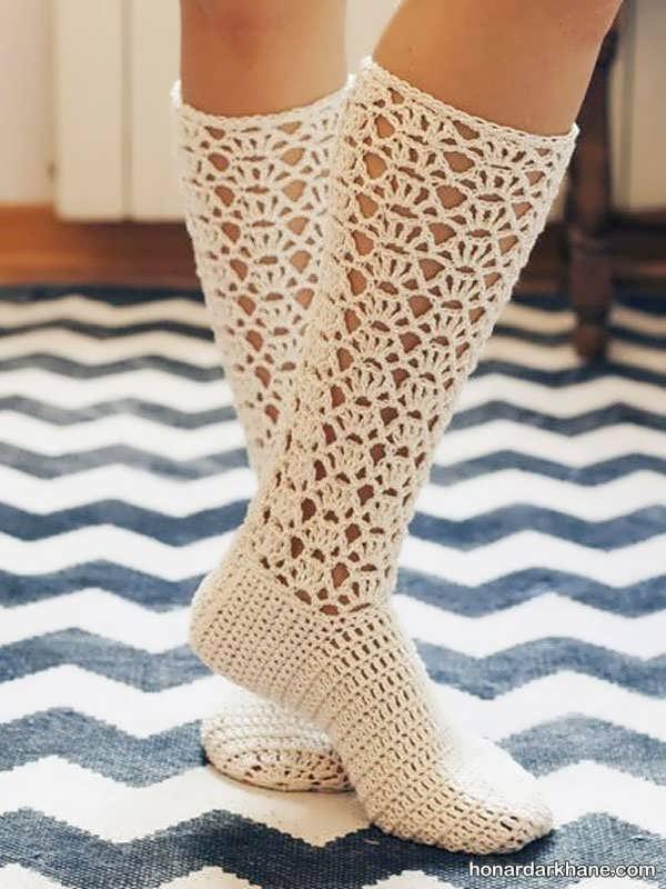 مدل جدید و ساق کوتاه جوراب زمستانه