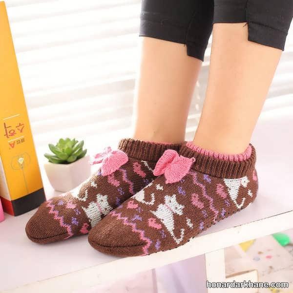 انواع مدل جوراب بافتنی