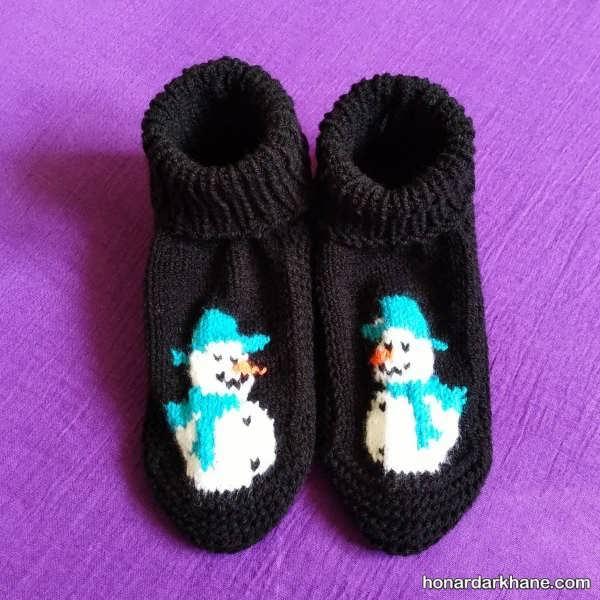 مدل های زیبا و ساق کوتاه جوراب زمستانه