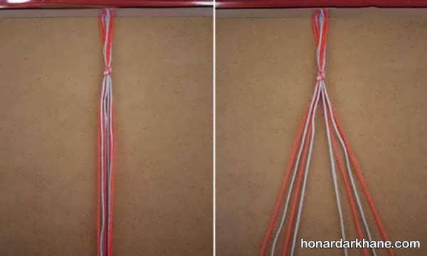 روش درست کردن دستبند با کامواهای رنگی