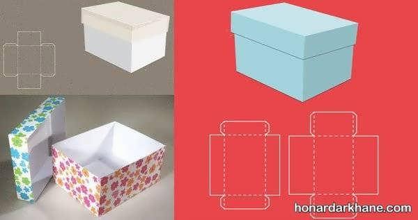 نحوه ساخت جعبه هدیه با مقوا