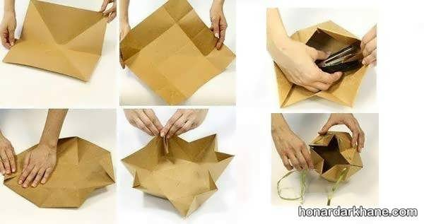 نحوه درست کردن جعبه کادو با مقوا