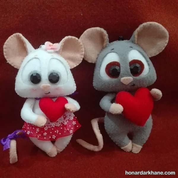 طرز ساخت عروسک موش به روشی راحت