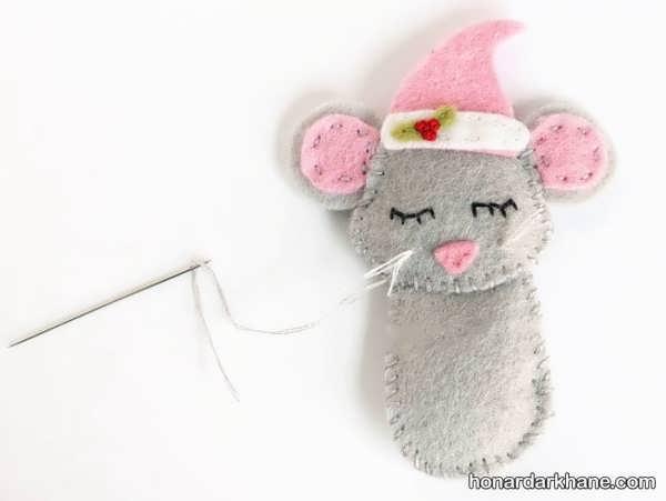 نحوه ساخت عروسک موش با وسایل در دسترس