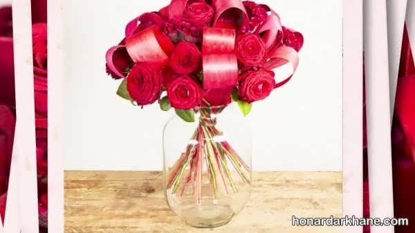 تزیینات بسیار زیبا گل در گلدان