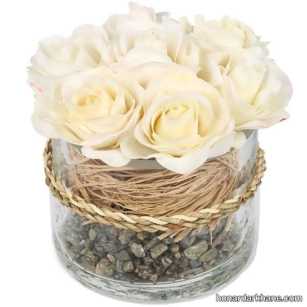 انواع گل آرایی منزل با گل های رنگی