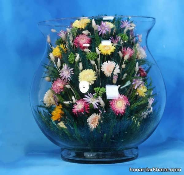 تزیین گل طبیعی در تنگ