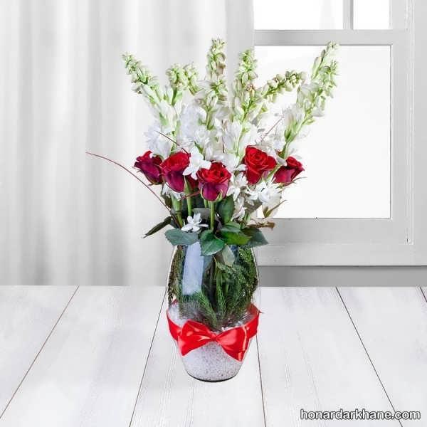 انواع تزیینات میز با گل های مختلف