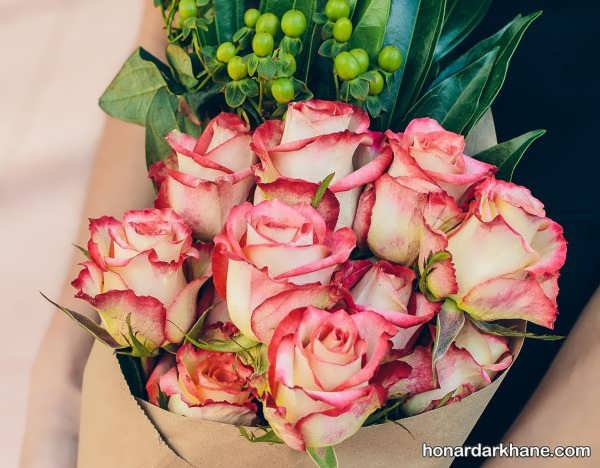 تزیینات مختلف با گل طبیعی