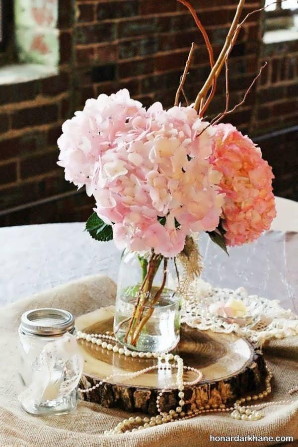 مدل های زیبا گل آرایی میز و اتاق
