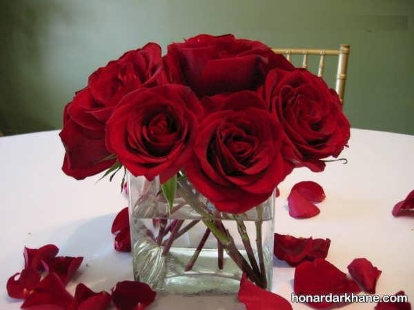 تزیین اتاق با گل طبیعی