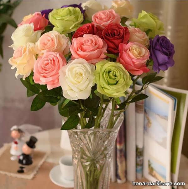 انواع تزیین با گل های رنگی و تازه