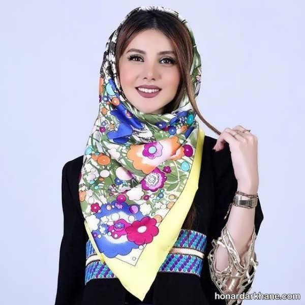 انواع جدید روسری ساتن