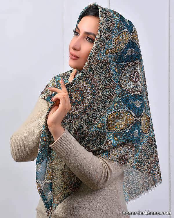 انواع جدید روسری نخی بلند