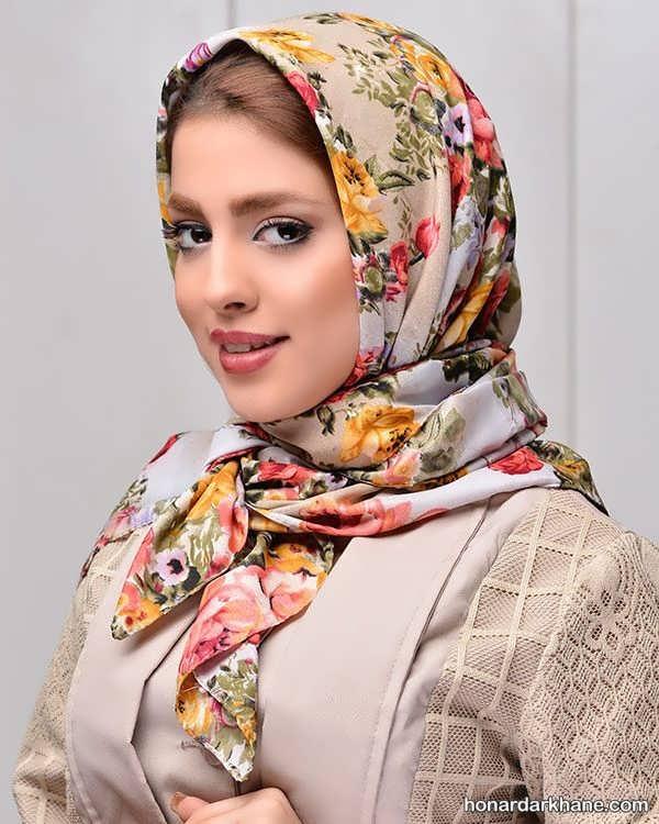 انواع جدید روسری تک رنگ
