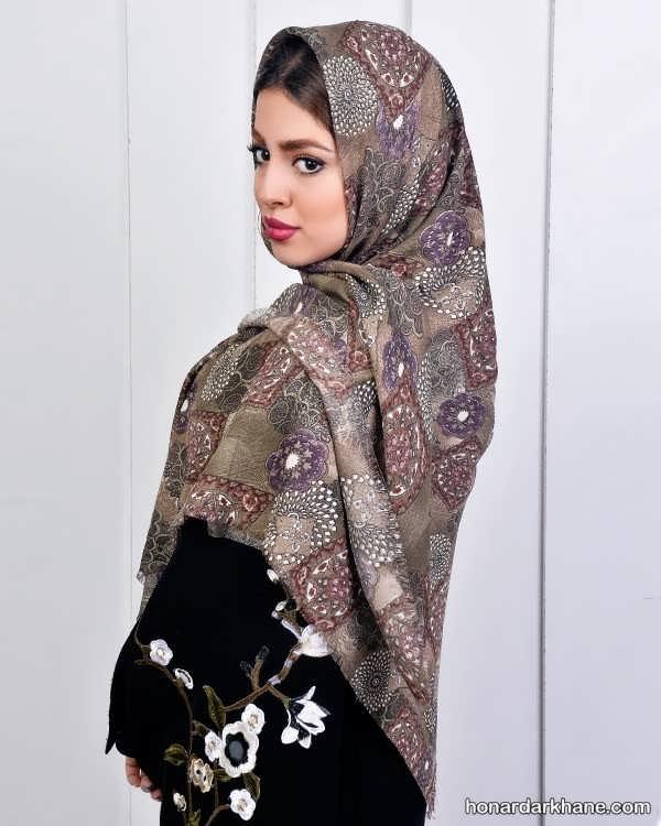 انواع شیک و جذاب روسری حریر