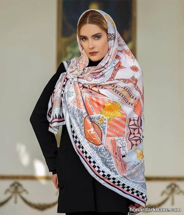 مدل های جالب روسری و شال